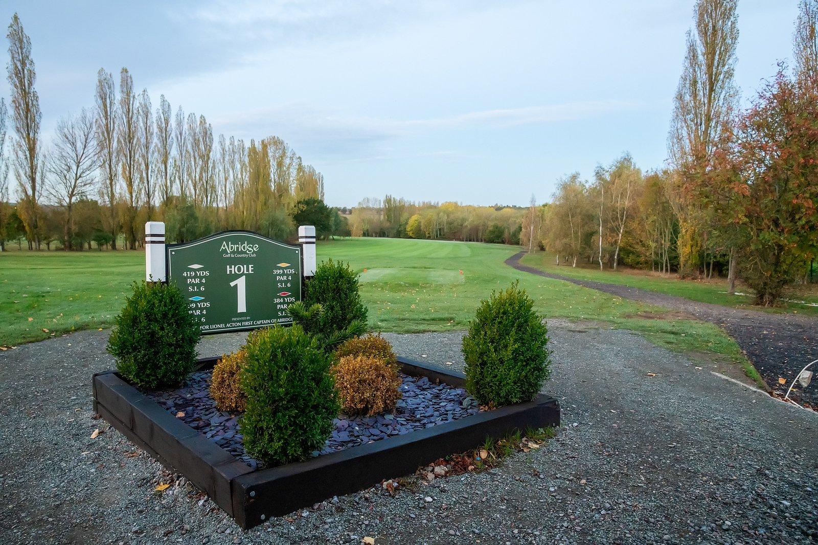 1st tee at Abridge Golf Club