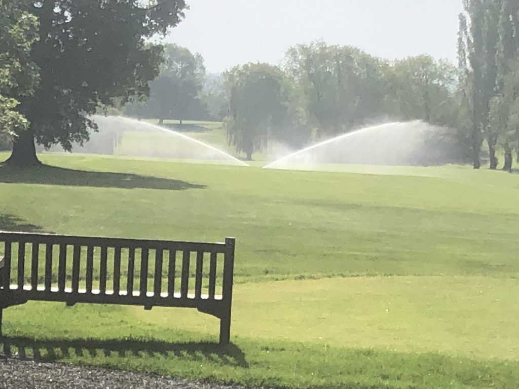 Auto sprinklers at abridge golf club