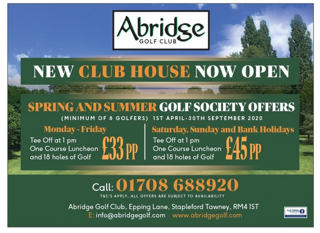 Golf Society Offers for 2020